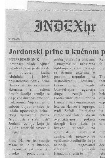"""Jordanski princ u kućnom pritvoru, """"pokušao je destabilizirati zemlju"""""""