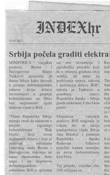 """Read more about the article Srbija počela graditi elektranu na Drini, BiH je protiv: """"To je neviđena provokacija"""""""